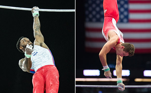 Kimble, Yoder advance to parallel bars, high bar finals at Doha World Cup