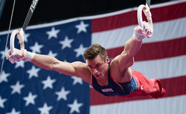 Mikulak dazzles on way to fifth career U.S. all-around title