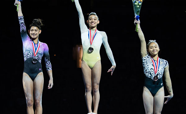 Wong wins U.S. junior women's all-around at 2018 U.S. Gymnastics Championships