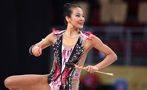 Zeng will compete in ball, clubs finals at Tashkent World Cup