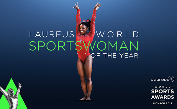 Biles wins Laureus World Sportswoman of the Year award