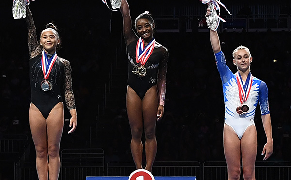Biles soars to sixth U.S. women's all-around title at 2019 U.S. Championships