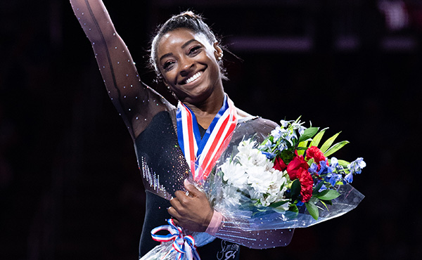 Biles wins USOPC's Best of August honor for Team USA Awards presented by Dow