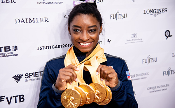 With world medals 24 and 25, Simone Biles inks an unforgettable chapter in gymnastics history