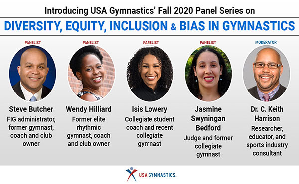 Video: First of three panels on diversity, equity and inclusion in gymnastics