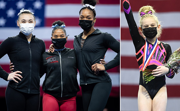 Chiles, Parker claim 2021 Winter Cup senior and junior all-around titles, four senior and five junior gymnasts named to U.S. Women's National Team