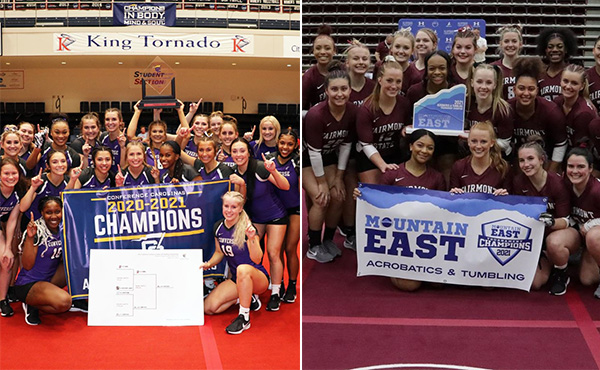 Converse and Fairmont State win Acro & Tumbling Conference Titles