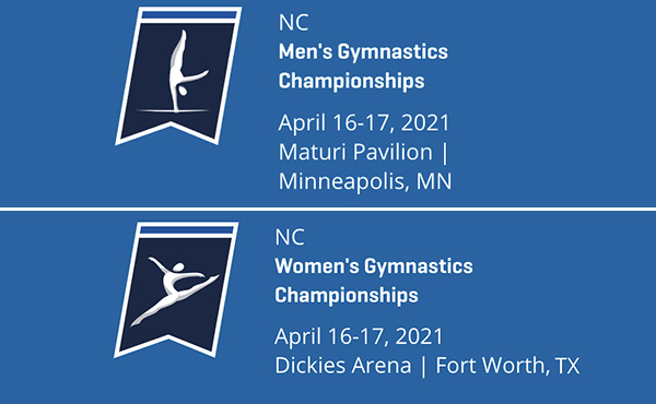 2021 NCAA Men's and Women's Gymnastics Championships set for April 16-17