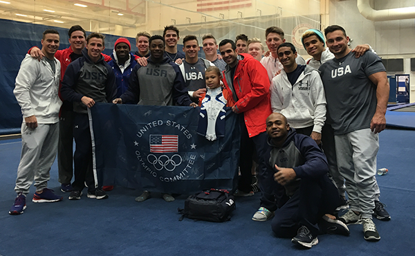 Make-A-Wish kid® Elijah from Akron trains with U.S. Men's National Team