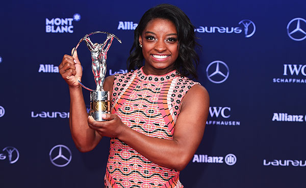 Biles is one of six nominated for Sportswoman of the Year for 2019 Laureus World Sports Awards