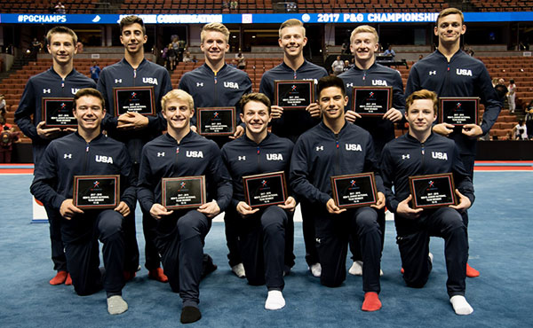 USA Gymnastics names U.S. Junior Men's National Team