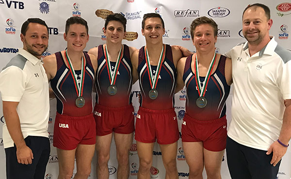 U.S. men win double-mini silver at World Trampoline and Tumbling Championships